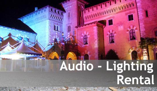 Noleggio audio luci/Rental