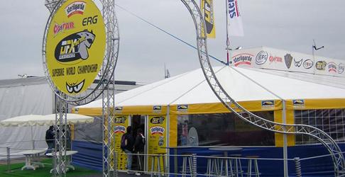 Azienda per allestimenti sportivi a Verona e strutture per Campionato Superbike
