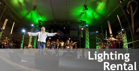 Noleggio service luci per tour service Paolo Belli Big Band
