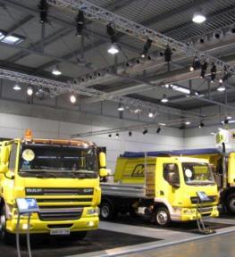 Allestimento fiera con stand per Daf veicoli industriali