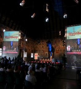 Realizzazione impiantistica audio luci per convention Weinberg Padova