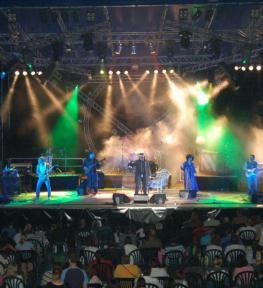 Installazione palco e copertura per evento musicale all'aperto