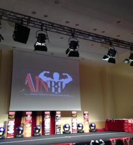 Allestimento manifestazione sportiva per Nazionale italiana natural body building
