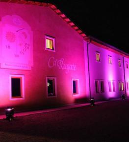 Service luci con illuminazione architetturale e proiezione logo aziendale per meeting