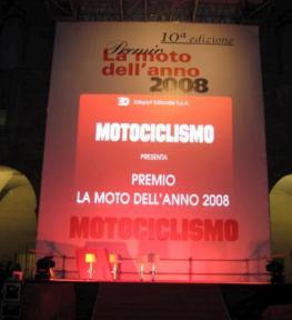 Luci ed effetti luminosi per evento Moto dell'Anno