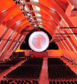 Service luci verona per meeting aziendale evento Riello