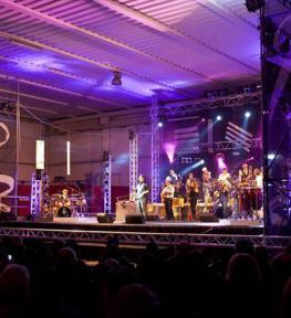 Service luci audio tour service per concerti Paolo Belli Big Band