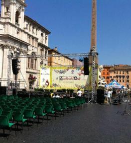 Tour service strutture luci audio per selezioni nazionali Zecchino d'Oro
