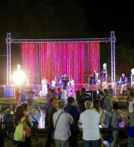 Realizzazione illuminazione per feste paesane