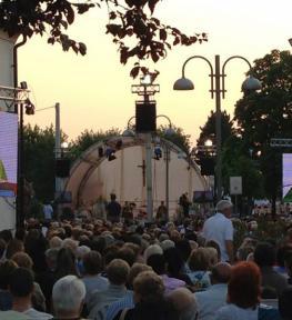 Allestimento mega schermi a led a Verona per evento in piazza Bra