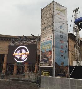 Installazione mega schermo led per evento