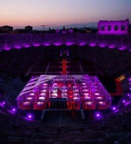 Service luci per Vinitaly 2017: cena di gala di apertura in Arena