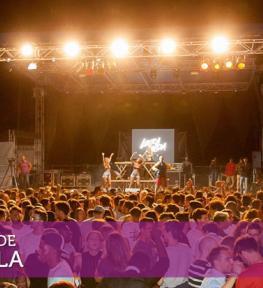 Realizzazione evento Festa Santa Viola 2017 con allestimento palco, copertura e service audio luci