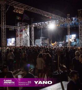 Allestimento palco, torri e copertura per Festa Santa Viola 2017