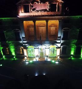 Illuminazione giardino e facciata di Villa Sigurtà per festa esclusiva