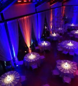 Service luci per evento in Villa Sorio