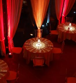Allestimento illuminazione per evento a Villa Sorio (VR)
