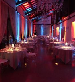 Service luci in Villa Sorio per evento