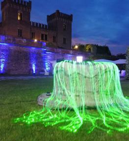 Allestimento audio-luci matrimonio al Castello di Bevilacqua