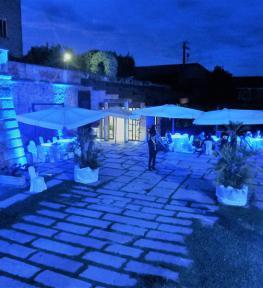 Allestimento luci e audio per matrimonio al Castello di Bevilacqua