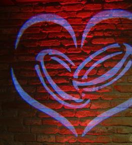 Illuminazione per festa San Valentino
