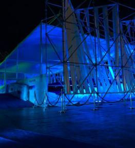Illuminotecnica per evento ai Cantieri Navali di La Spezia