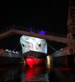 Service luci per evento ai Cantieri Navali di La Spezia